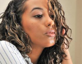 Editorial Makeup - Curly-Hair